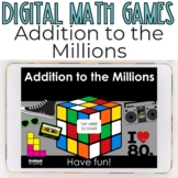 Addition Up to the Millions Digital Game - Digital Additio