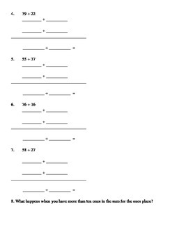 Addition Using Expanded Notation With Regrouping