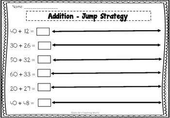 Addition - Using the Jump Strategy