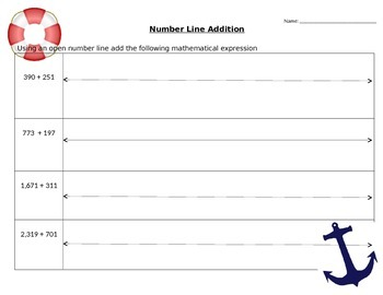 Addition Using the Number Line