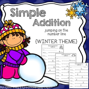 Addition Using the Number Line {Winter Theme}