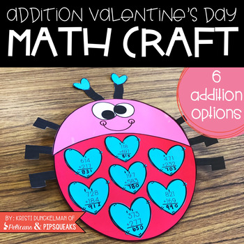 Addition Valentine's Day Math Craft