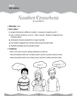 Addition: Verbal and Physical Responses (Ten-Minute Activities)