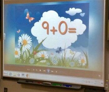 Addition Video/Smartboard viewable - sums to 10 for oral rapid response practice
