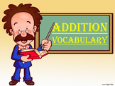 Addition Vocabulary 1st Grade Common Core