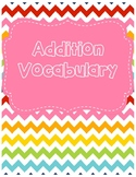 Addition Vocabulary