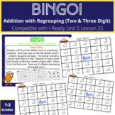 Addition WITH Regrouping BINGO Math Game 1st and 2nd Grade