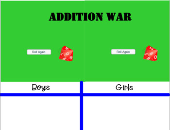 Addition War!