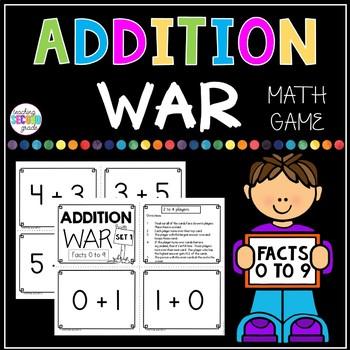 Addition War Facts 0 to 9 FREEBIE