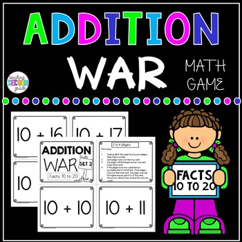 Addition Facts 10 to 20 War