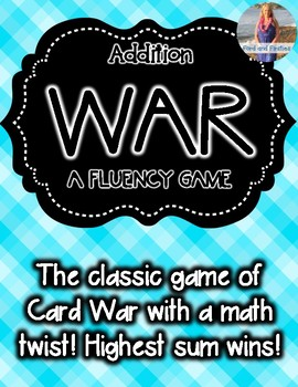 Addition Fluency Game: War! [Sums to 12]