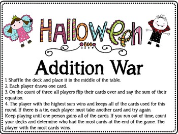 Addition War: Halloween Theme