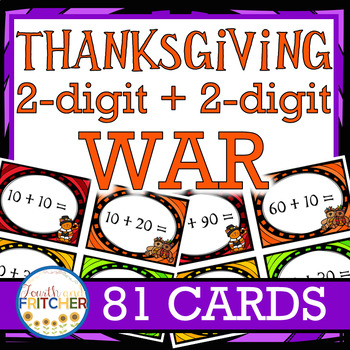 Addition War: Thanksgiving (2-digit + 2-digit)
