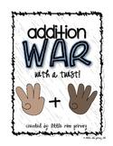 Addition War {with a Rock, Paper, Scissors Twist!}