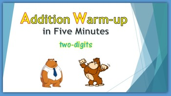 Addition Warm-up in Five Minutes - two digits