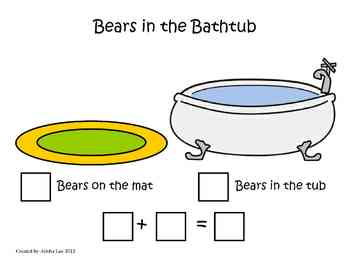 Addition-Ways to Make 5, 6, 7, 8 & 9 Using Bear Counters
