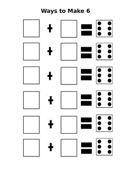 Addition- Ways to Make 6