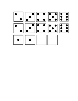 Addition- Ways to Make 6 Dice Pictures