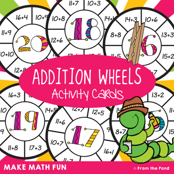 Addition Wheel Activity Cards