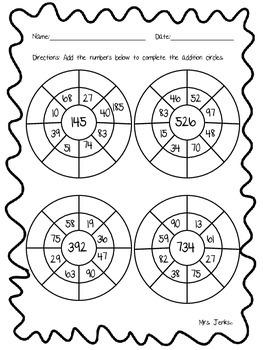 Addition Wheels Freebie