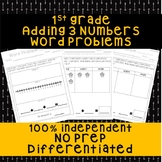 1st Grade Addition With 3 Numbers Word Problems