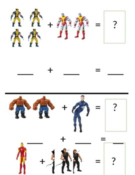 Addition With Action Figures FULLY EDITABLE