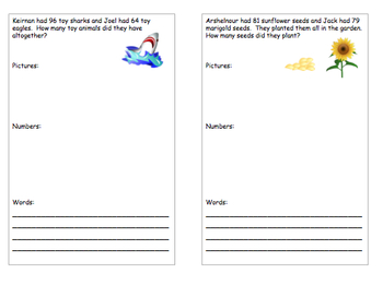 Addition With Carrying Over - Add Your Own Student's Names - FREEBIE - 7 pages