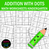Addition With Dots for Kindergarten-Dots Addition Workshee