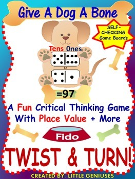 Place Value Games with  A Fun Dog Theme  For Grades 1-3