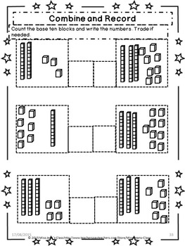 Addition With Regrouping 1s For 10s- Student Practice Book