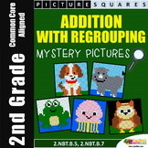 2nd Grade Addition With Regrouping Coloring Activity Mystery Pictures