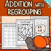 Addition With Regrouping - Adding to 100, Two Digit Plus One Digit Addition.