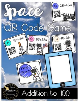 Double Digit Addition With Regrouping (Addition to 100) QR Code Game