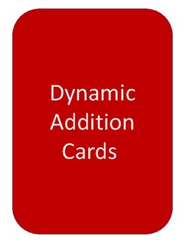 Addition With Regrouping / Dynamic Addition Equation Cards