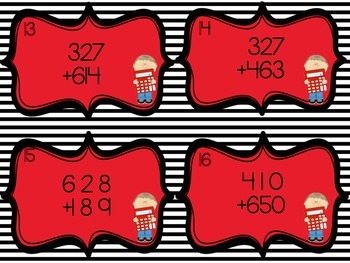Addition (With Regrouping) Task Cards