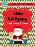 Christmas Themed Addition With Regrouping Task Cards & Game