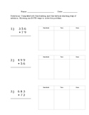 Addition With Regrouping short worksheet