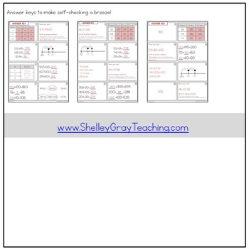 Addition With Sums to 1000 Task Cards (Third Grade)