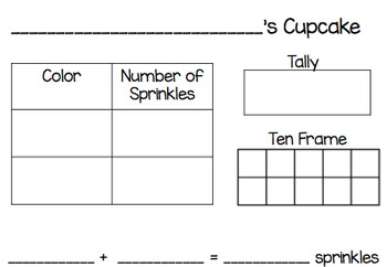 Addition With Cupcake Sprinkles
