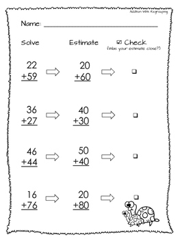 Addition With and Without Regrouping Free