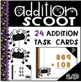 Addition With and Without Regrouping Halloween Task Cards