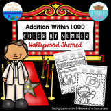 Addition Within 1,000 Color By Numbers ~ Hollywood Themed