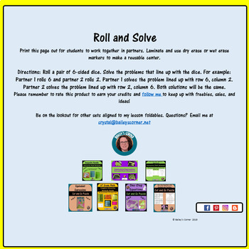 Addition Within 1,000 Roll and Solve Math Center