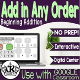 Addition Within 10 Add in Any Order Digital Math Center for Google Classroom