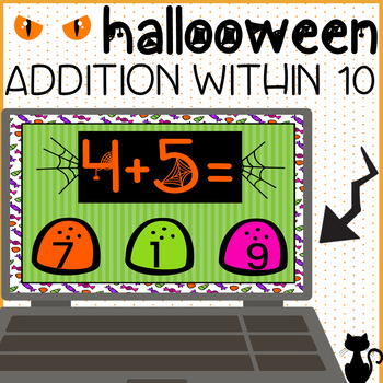 Addition Within 10 Halloween BOOM Cards