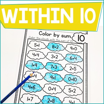 Addition Within 10 Practice Work Pages APRIL EDITION