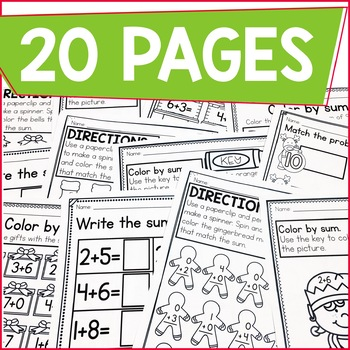 Addition Within 10 Practice Work Pages DECEMBER EDITION