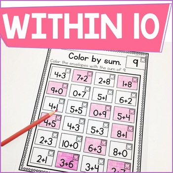 Addition Within 10 Practice Work Pages FEBRUARY EDITION
