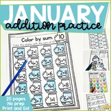 Addition Within 10 Practice Work Pages JANUARY EDITION