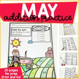 Addition Within 10 Practice Work Pages MAY EDITION